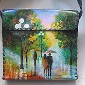Сумки и аксессуары ручной работы. Ярмарка Мастеров - ручная работа пейзаж на сумке. Handmade.