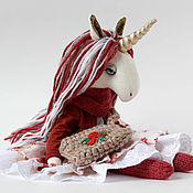 Мягкие игрушки ручной работы. Ярмарка Мастеров - ручная работа Игрушки: Единорожка  Unicorn Doll.. Handmade.