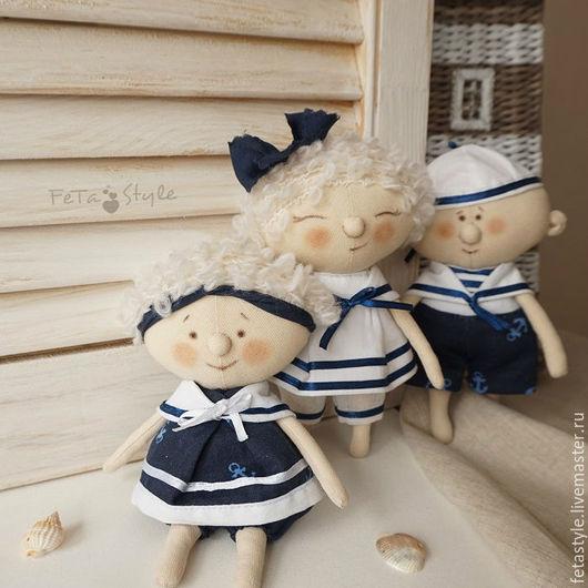 Человечки ручной работы. Ярмарка Мастеров - ручная работа. Купить Юнги Куклы текстильные Детский сад на море. Handmade. Юнга