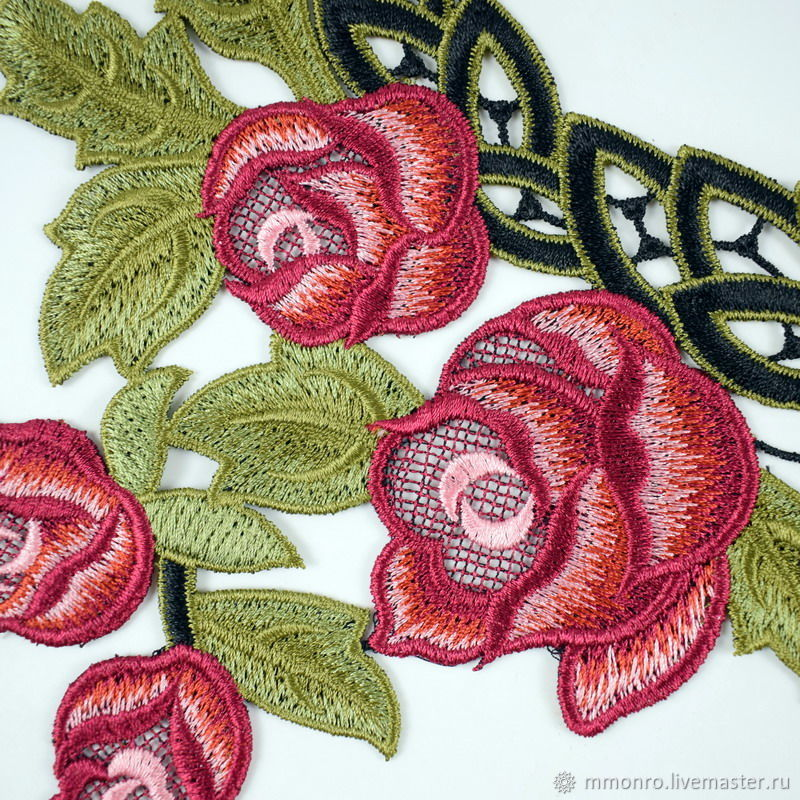 In Stock Action Embroidery Applique Collar Shop Online On