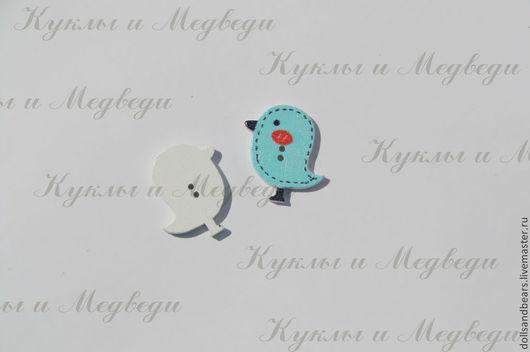 В-128Пуговица, 26х18мм, цвет голубой, 5руб/шт