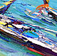 Order Painting with the sea 'Phuket. The Panwa beach in the Rainy Season' oil on canvas. Multicolor Gallery. Livemaster. . Pictures Фото №3