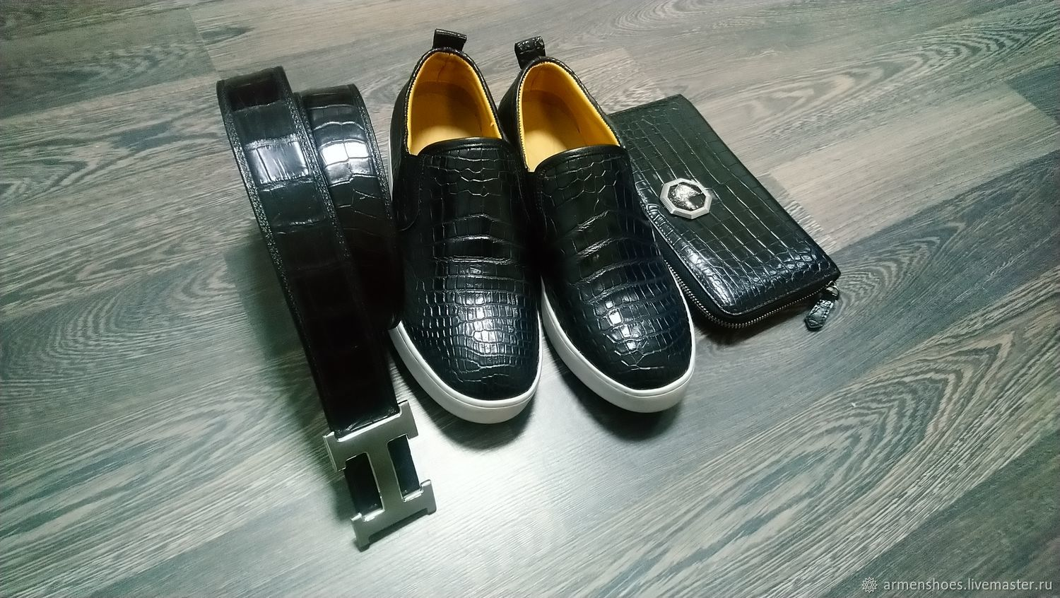 Gifts for men: slip-on clutch belt, crocodile skin!, Kits for photo shoots, Tosno,  Фото №1