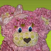 Цветы и флористика ручной работы. Ярмарка Мастеров - ручная работа Цветочная композиция -Мишка-6. Handmade.