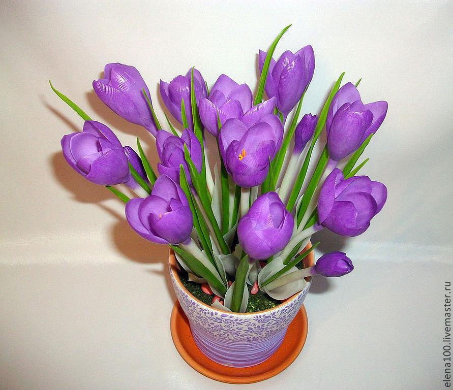 Цветы крокусы купить заказать букет роз ростов