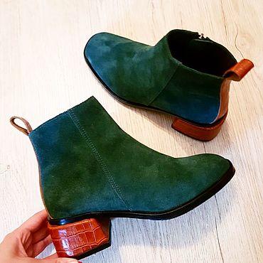 Обувь ручной работы. Ярмарка Мастеров - ручная работа Ботинки осень. Handmade.