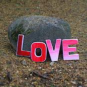 Сувениры и подарки ручной работы. Ярмарка Мастеров - ручная работа Текстильные буквы LOVE. Handmade.