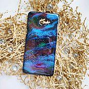Чехол ручной работы. Ярмарка Мастеров - ручная работа Чехол для телефона в виде космоса из эпоксидной смолы. Handmade.