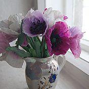 Цветы и флористика ручной работы. Ярмарка Мастеров - ручная работа Маки из холодного фарфора. Handmade.