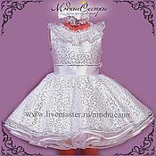 Работы для детей, handmade. Livemaster - original item Baby dress Glitter Art.-267. Handmade.