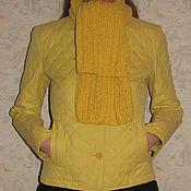 Аксессуары ручной работы. Ярмарка Мастеров - ручная работа Желтый нежный шарф с искринкой. Handmade.