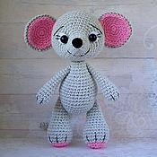 Куклы и игрушки ручной работы. Ярмарка Мастеров - ручная работа Серый мышонок - вязаная игрушка. Handmade.