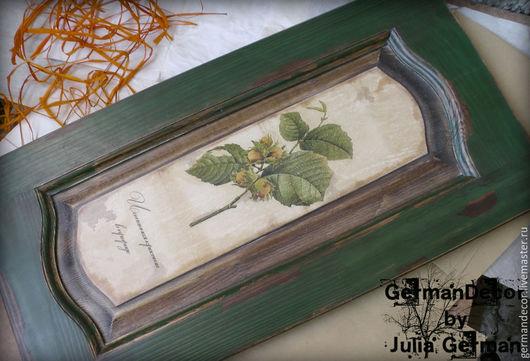 """Пейзаж ручной работы. Ярмарка Мастеров - ручная работа. Купить Панно """"Истинная красота в природе"""". Handmade. Тёмно-зелёный, кантри"""