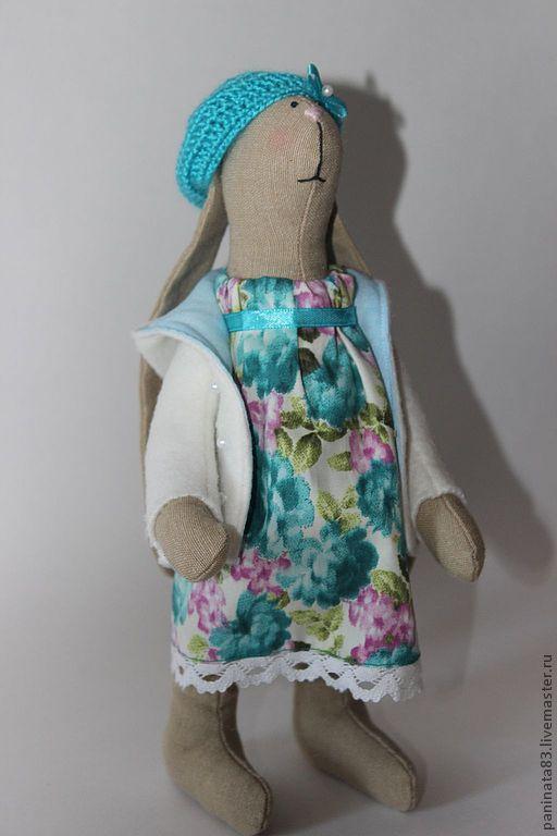 Куклы Тильды ручной работы. Ярмарка Мастеров - ручная работа. Купить Зайка Эмили. Handmade. Бирюзовый, зайка, текстильная игрушка