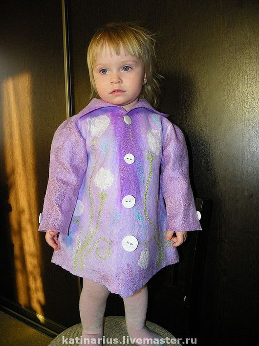 """Одежда для девочек, ручной работы. Ярмарка Мастеров - ручная работа. Купить Плащик """"Одуванчик"""". Handmade. Валяный плащик, авторская одежда"""