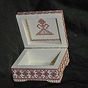 Для дома и интерьера ручной работы. Ярмарка Мастеров - ручная работа Шкатулка в славянском стиле. Handmade.