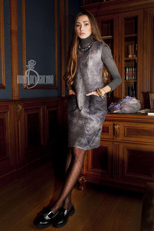 Платья ручной работы. Ярмарка Мастеров - ручная работа. Купить Валяное платье «Just grey». Handmade. Серый, ирина демченко