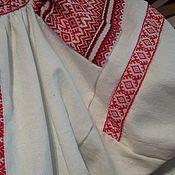 Русский стиль ручной работы. Ярмарка Мастеров - ручная работа Рубаха женская короткая традиционного кроя со славянским узором. Handmade.
