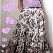 Одежда handmade. Livemaster - original item Long skirt with pockets