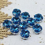handmade. Livemaster - original item Rhinestones kushon 12 mm aquamarine. Handmade.