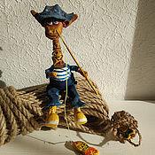 Куклы и игрушки handmade. Livemaster - original item Giraffe. Fisherman. collectible toy. Handmade.