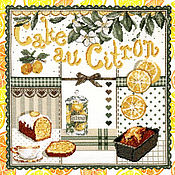 Картины и панно handmade. Livemaster - original item Panels: Lemon cake. Handmade.