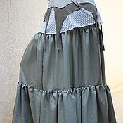 Одежда ручной работы. Ярмарка Мастеров - ручная работа Длинная юбка Tribal Dance серая. Handmade.
