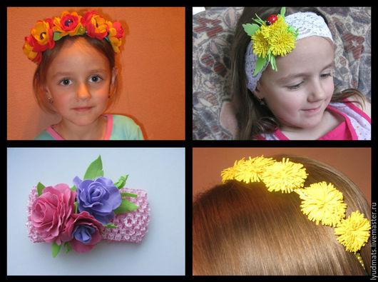 Заколки ручной работы. Ярмарка Мастеров - ручная работа. Купить заколки, ободки, повязки  для волос из фоамирана. Handmade. Розы из фоамирана