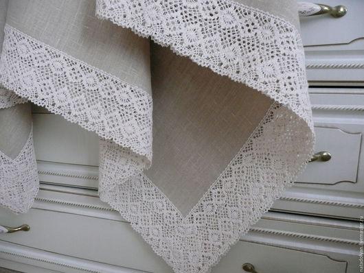 """Текстиль, ковры ручной работы. Ярмарка Мастеров - ручная работа. Купить Скатерть льняная """" Бежевая классика"""" в наличии. Handmade."""