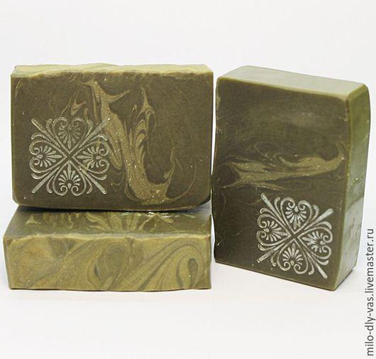 Шампуневое мыло Крапива, натуральное мыло-шампунь для укрепления волос