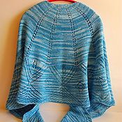 Аксессуары handmade. Livemaster - original item A shawl in the form of a semicircle with a crocheted edge. Handmade.