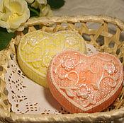 """Косметика ручной работы. Ярмарка Мастеров - ручная работа Сувенирное мыло """"Вязанное сердце"""". Handmade."""