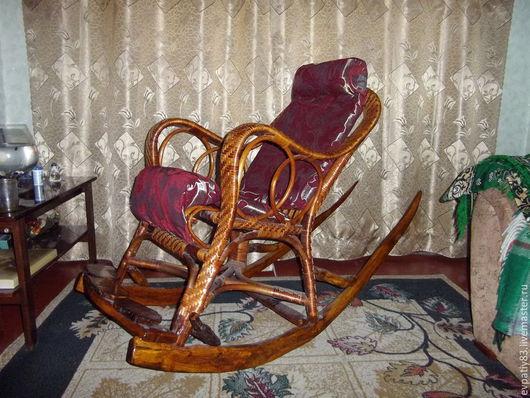 """Мебель ручной работы. Ярмарка Мастеров - ручная работа. Купить кресло-качалка из лозы,веток и дуба на тему """"лесная сказка"""". Handmade."""