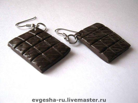 """Серьги ручной работы. Ярмарка Мастеров - ручная работа. Купить Серьги """"Шоколад"""". Handmade. Серьги, серьги ручной работы"""