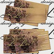 Дизайн и реклама ручной работы. Ярмарка Мастеров - ручная работа дизайн баннера, визитки, бирки. Handmade.