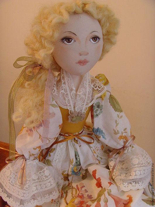 Коллекционные куклы ручной работы. Ярмарка Мастеров - ручная работа. Купить Анжелика. Handmade. Бежевый, кукла, дом, подарок девушке