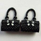 Материалы для творчества handmade. Livemaster - original item A pair of handbags. Pendants 26x18x12mm. Handmade.