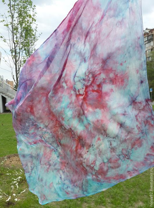 """Шали, палантины ручной работы. Ярмарка Мастеров - ручная работа. Купить Шелковый платок """"Весна 11"""". Handmade. Разноцветный"""