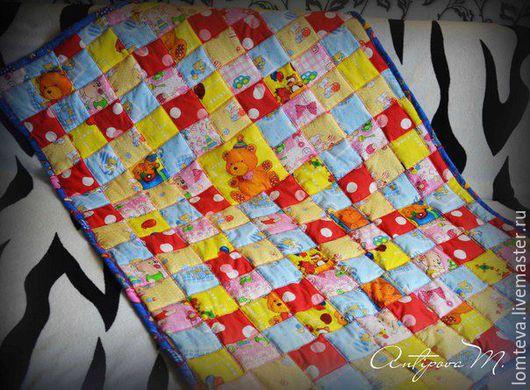 Пледы и одеяла ручной работы. Ярмарка Мастеров - ручная работа. Купить Детское лоскутное одеяло. Пэчворк. Handmade. Комбинированный, плед