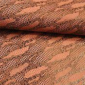 Материалы для творчества ручной работы. Ярмарка Мастеров - ручная работа кожа МРС серо-розовый рисунок. Handmade.