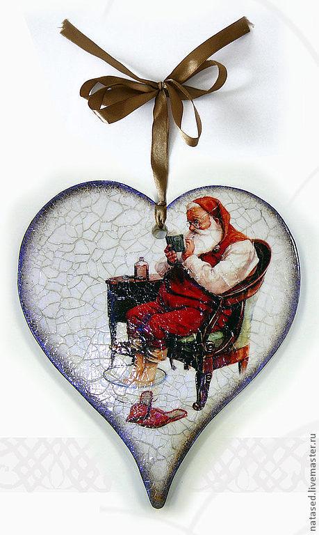 Новый год 2017 ручной работы. Ярмарка Мастеров - ручная работа. Купить Санта отдыхает, скоро Новый Год. Handmade. Санта