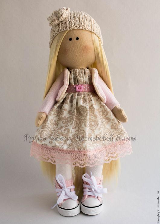 Куклы тыквоголовки ручной работы. Ярмарка Мастеров - ручная работа. Купить Интерьерная куколка в кедах. Handmade. Комбинированный, подарок девочке