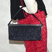 Винтаж handmade. Livemaster - original item Handbag Magic of the night, USA, ,60s, glitter,evening, black. Handmade.