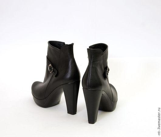 """Обувь ручной работы. Ярмарка Мастеров - ручная работа. Купить Ботильоны """"Черная классика"""". Handmade. Ншан томбакчян, обувь на заказ"""