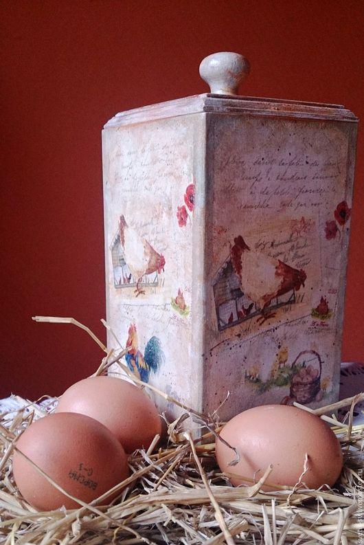 """Корзины, коробы ручной работы. Ярмарка Мастеров - ручная работа. Купить Короб для сыпучих продуктов"""" Птичий двор"""". Handmade. кухня"""