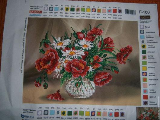 Картины цветов ручной работы. Ярмарка Мастеров - ручная работа. Купить Букет маков в вазе. Handmade. Ярко-красный
