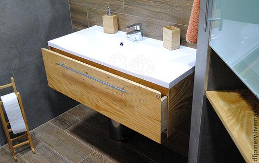 Мебель ручной работы. Ярмарка Мастеров - ручная работа. Купить Тумба для раковины «Эко». Handmade. Натуральное дерево, лофт, ванная
