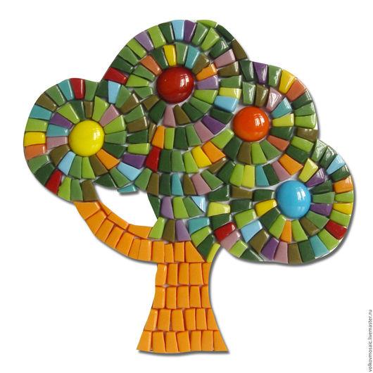 Детская ручной работы. Ярмарка Мастеров - ручная работа. Купить смальта-пазл «дерево Весеннее». Handmade. Комбинированный, весна, крепление