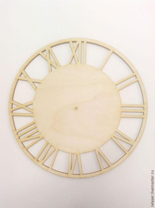 IVL-012-4 Циферблат заготовка для декупажа и росписи часов из фанеры Заготовка из фанеры 4 мм