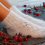 Аксессуары handmade. Livemaster - original item Fishnet socks feather with the beads. Handmade.